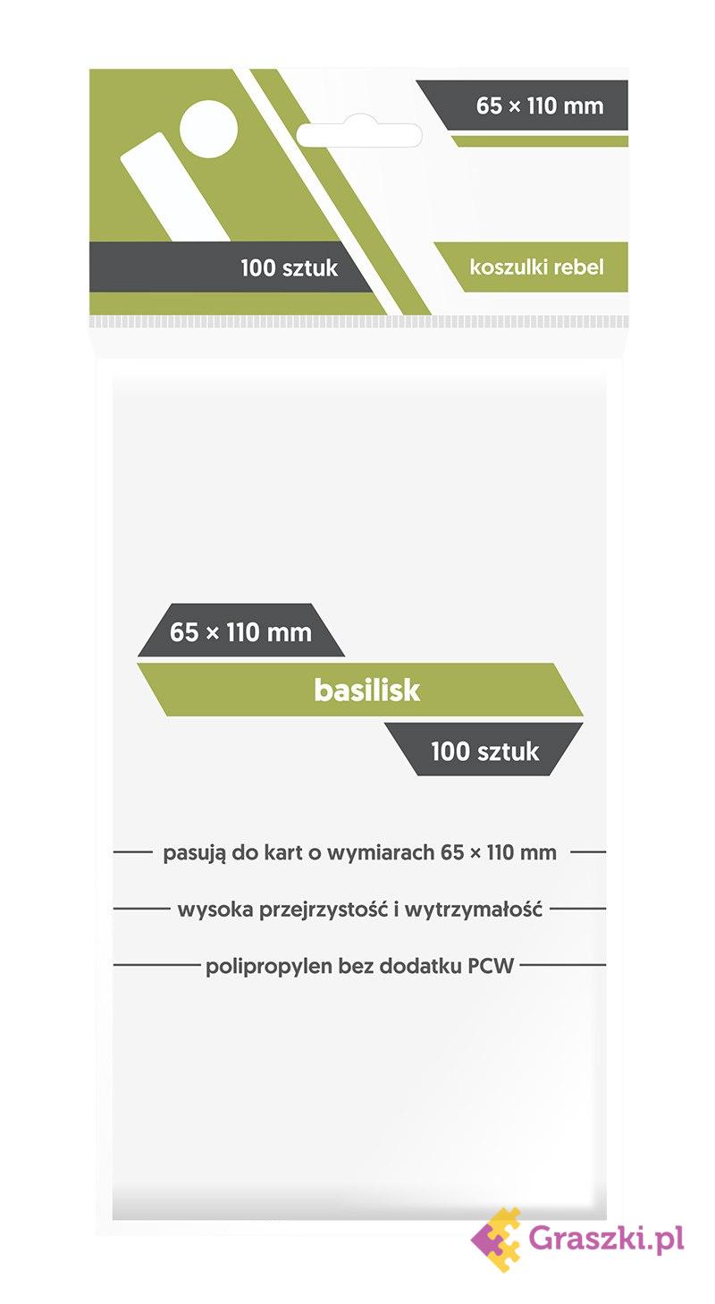 Koszulki na karty Rebel (65x110 mm) Basilisk, 100 sztuk